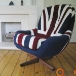 Tobulai apmegztas fotelis