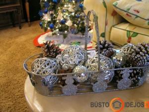 Krepšys Kalėdinių dekoracijų