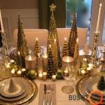 Įstabiai puoštas Kūčių ar šv. Kalėdų stalas