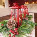 Jaukiai puoštas Kalėdinis stalas