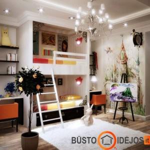 Kūrybiškas vaikų kambarys