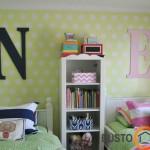 Kurio vaiko lova išduoda tekstilė. Žalia - neutrali spalva