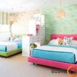Pastelinis berniuko ir mergaitės kambarys