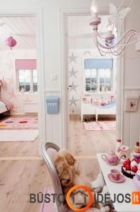 Idealu, kai didelį kambarį galima atsitverti pertvara