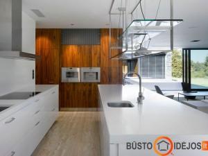 Kontrastingas virtuvės dizainas