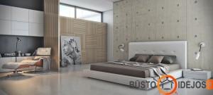 Medžiu dekoruota siena moderniame interjere