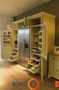 Kaimiško stiliau virtuvės baldai