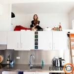 Itin mažo buto virtuvės interjeras